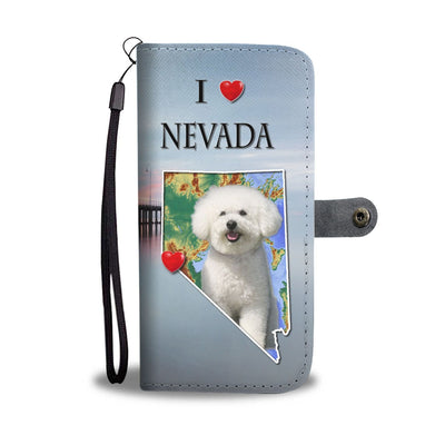 Lovely Bichon Frise Print Wallet Case-Free Shipping-NV State