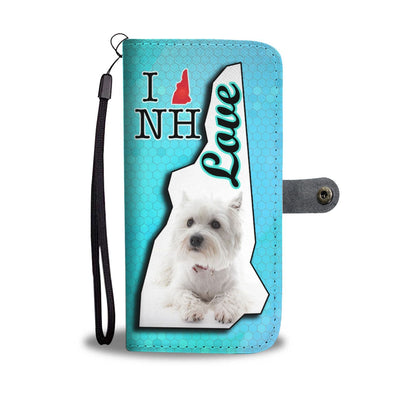 Cute Westie Dog Print Wallet Case-Free Shipping-NH State