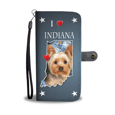 Cute Yorkshire Terrier Print Wallet Case-Free Shipping-IN State