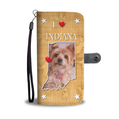 Lovely Yorkshire Terrier Print Wallet Case-Free Shipping-IN State