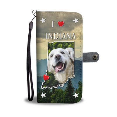 Cute Golden Retriever Print Wallet Case-Free Shipping-IN States