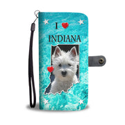 Amazing Westie Dog Print Wallet Case-Free Shipping-IN State