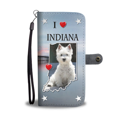 Lovely Westie Dog Print Wallet Case-Free Shipping-IN State