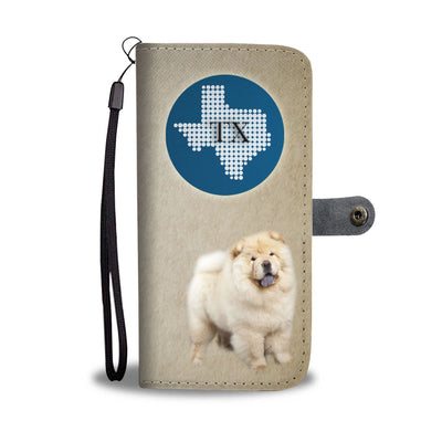Chow Chow Dog Print Wallet Case-Free Shipping-TX State