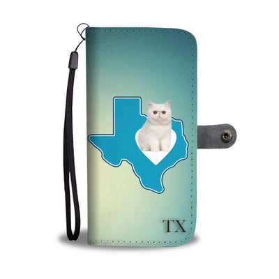 Exotic Shorthair Cat Print Wallet Case-Free Shipping-TX State