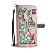 French Bulldog Floral Print Wallet Case-Free Shipping-DE State