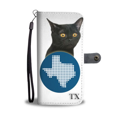 Bombay cat Print Wallet Case-Free Shipping-TX State