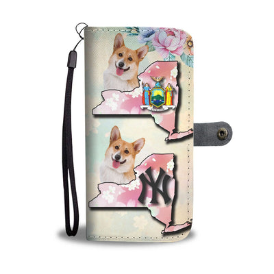 Lovely Cardigan Welsh Corgi Print Wallet Case-Free Shipping-NY State