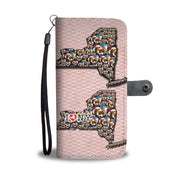 Cavalier King Charles On Heart Print Wallet Case-Free Shipping-NY State