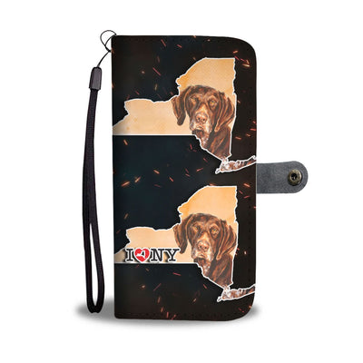 German Shorthaired Pointer Dog Print Wallet Case-Free Shipping-NY State