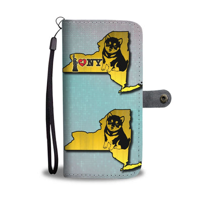Cute Shiba Inu Art Print Wallet Case-Free Shipping-NY State