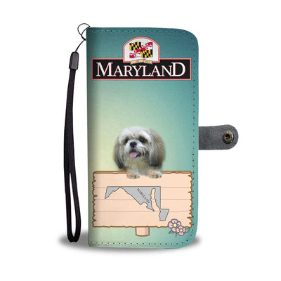 Shih Tzu Dog Print Wallet Case-Free Shipping-MD State