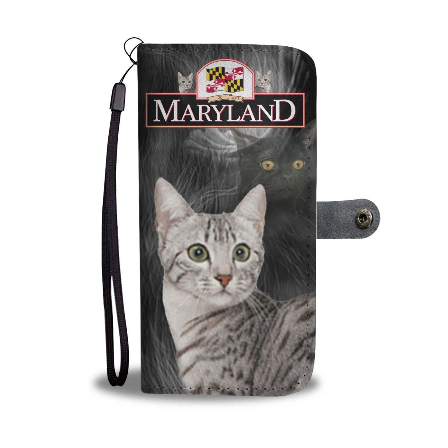 Egyptian Mau Cat Print Wallet Case-Free Shipping-MD State
