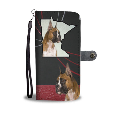Amazing Boxer Dog Print Wallet Case-Free Shipping-MN State