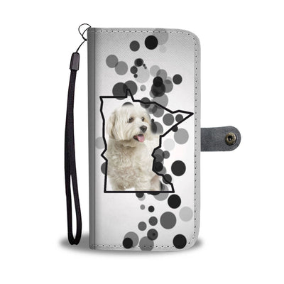 Cute Maltese Print Wallet Case-Free Shipping-MN State