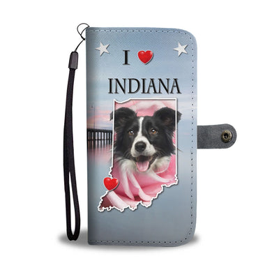 Border Collie Print Wallet Case-Free Shipping-IN State