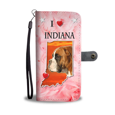 Boxer Dog Print Wallet Case-Free Shipping-IN State