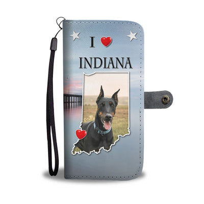 Doberman Pinscher Print Wallet Case- Free Shipping-IN State
