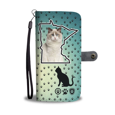 Ragdoll Cat Print Wallet Case-Free Shipping-MN State