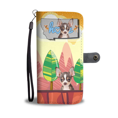 Chihuahua Print Wallet Case-Free Shipping-MT State