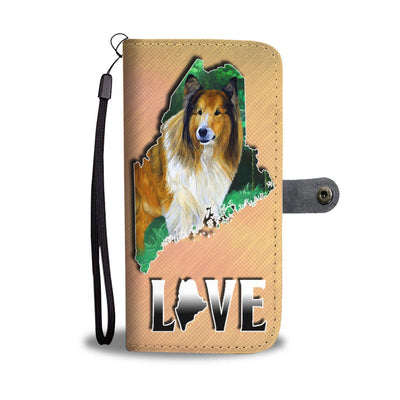 Rough Collie Dog Art Print Wallet Case-Free Shipping-ME State