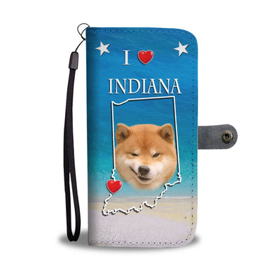 Shiba Inu Dog Print Wallet Case-Free Shipping-IN State
