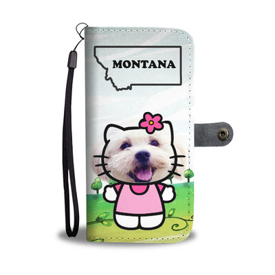Cute Maltese Dog Print Wallet Case-Free Shipping-MT State