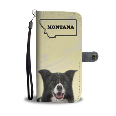 Border Collie Print Wallet Case-Free Shipping-MT State