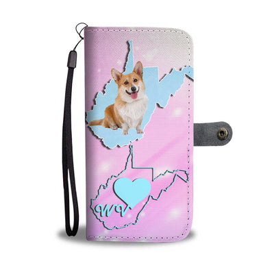 Amazing Cardigan Welsh Corgi Print Wallet Case-Free Shipping-WV State