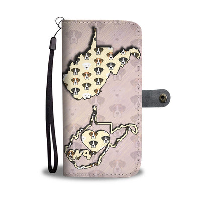 Boxer Dog Pattern Print Wallet Case-Free Shipping-WV State