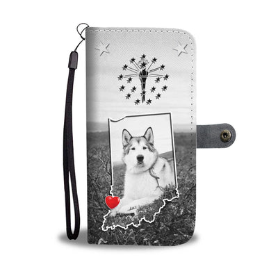 Alaskan Malamute Dog Print Wallet Case-Free Shipping-IN State