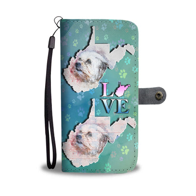 Cute Shih Tzu Dog Art Print Wallet Case-Free Shipping-WV State
