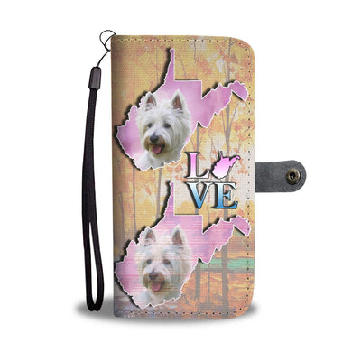 Cute Westie Art Print Wallet Case-Free Shipping-WV State