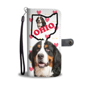 Amazing Bernese Mountain Dog Print Wallet Case-Free Shipping-OH State