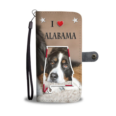 Cute Bernese Mountain Dog Print Wallet Case-Free Shipping-AL State