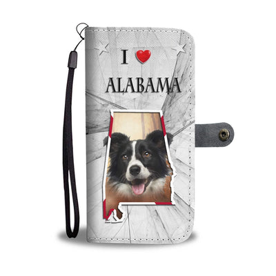 Border Collie Print Wallet Case-Free Shipping-AL State