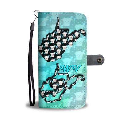 Maltese Dog Pattern Print Wallet Case-Free Shipping-WV State
