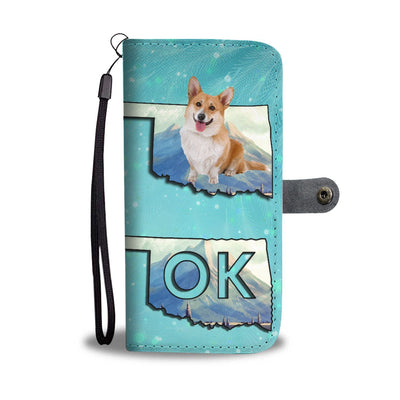 Cardigan Welsh Corgi Dog Print Wallet Case-Free Shipping-OK State