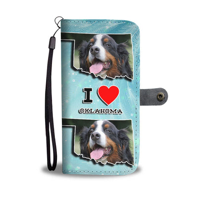 Lovely Bernese Mountain Dog Print Wallet Case-Free Shipping-OK State