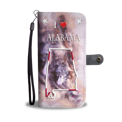 Amazing German Shepherd Print Wallet Case-Free Shipping-AL State
