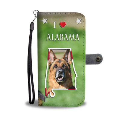 Cute German Shepherd Print Wallet Case-Free Shipping-AL State