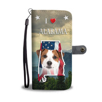 Jack Russell Terrier Print Wallet Case-Free Shipping-AL State