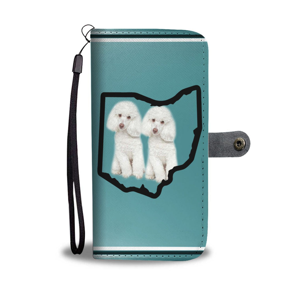 Poodle Dog Print Wallet Case-Free Shipping-OH State