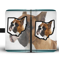 Boxer Dog Print Wallet Case-Free Shipping-OH State