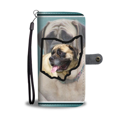 English Mastiff Print Wallet Case-Free Shipping-OH State