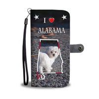 Lovely Maltese Dog Print Wallet Case-Free Shipping-AL State