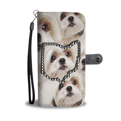 Shih Tzu Print Wallet Case-Free Shipping-OH State