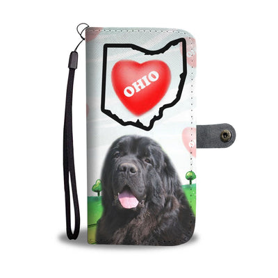 Newfoundland Dog Print Wallet Case-Free Shipping-OH State