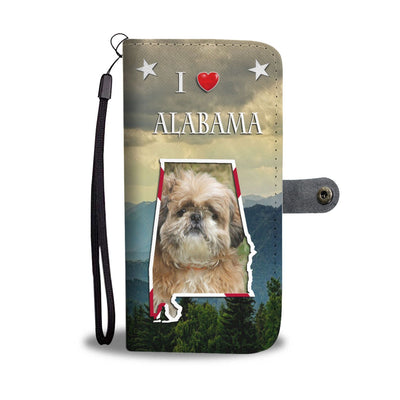 Lovely Shih Tzu Print Wallet Case-Free Shipping-AL State