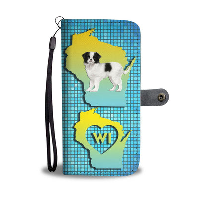 Lovely Japanese Chin Dog Print Wallet Case-Free Shipping-WI State